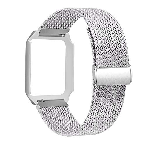 BEA FASHION Compatible with Watch Band 38mm Milanese Loop Stainless Steel Replacement Band with Metal Protective Case Band for Watch Series 3 Series 2 Series 1 Sport & Edition Silver