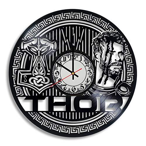 - Lepri4ok Thor Ragnarok Vinyl Wall Clock, Odin Wall Art, Thor Ragnarok Wall Art, Chris Hemsworth, Asgard Print, Thor Logo, Odinson