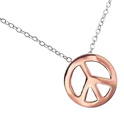398ec31d973b Laimons Damen-Halskette peace rose vergoldet mit Kette 45cm glanz Sterling Silber  925  Amazon.de  Schmuck