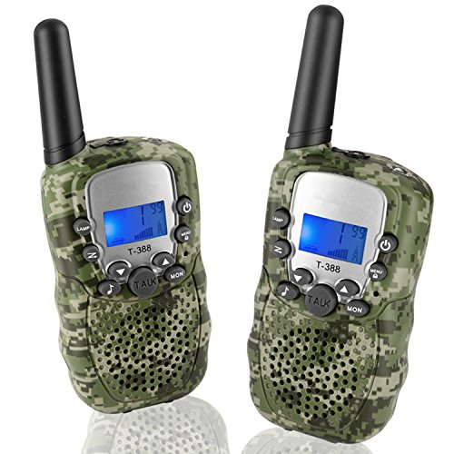 Topsung T388 Walkie Talkies for Family, FRS/GMRS Two Way Radio Long Range 22 Channels VOX Cruise Gear Portable Toys Walky Talky for Hunting Riding Adventure (Camo 2 Pack)
