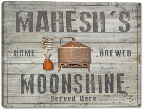 MAHESH'S Home Brewed Moonshine Stretched Canvas Print