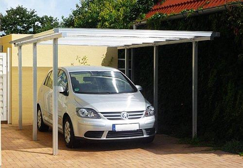 Beckmann aluminium carport cm aluminium natur