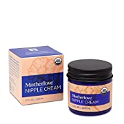 Motherlove Organic Nipple Cream Salve for Sore Cracked Nursing Nipples, 1 Ounce Jar (3 Pack)