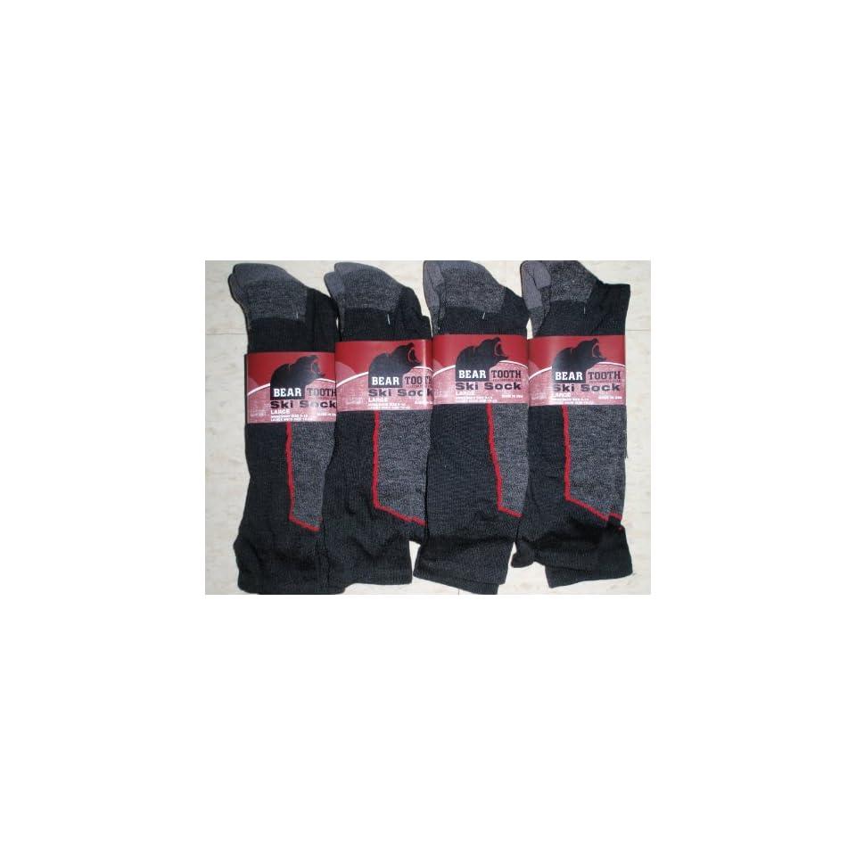 4 Pair Mens Or Ladies BEAR TOOTH Ski Socks 20% Merino Wool