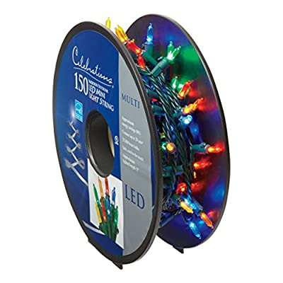 Celebrations 40756-71 LED Light Bulbs On A Reel, 37', Multi-Color