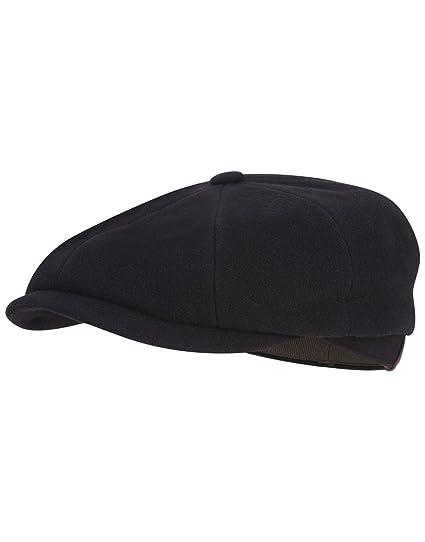 e67852be403bc Stetson Men s Newsboy Cap Hatteras black  Amazon.co.uk  Clothing