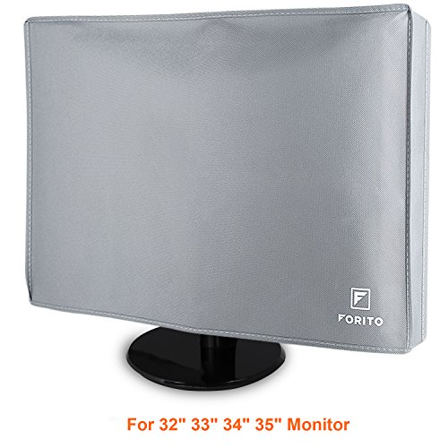 "Monitor Dust Cover for 32"" 33"" 34"" 35"" LCD/LED HD Screen Panel Size 34W x 22H x 4D - Gray"