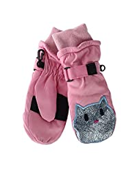 Grand Sierra Toddler Girl's 2-4 Sparkle Face Ski Mitten, Pink