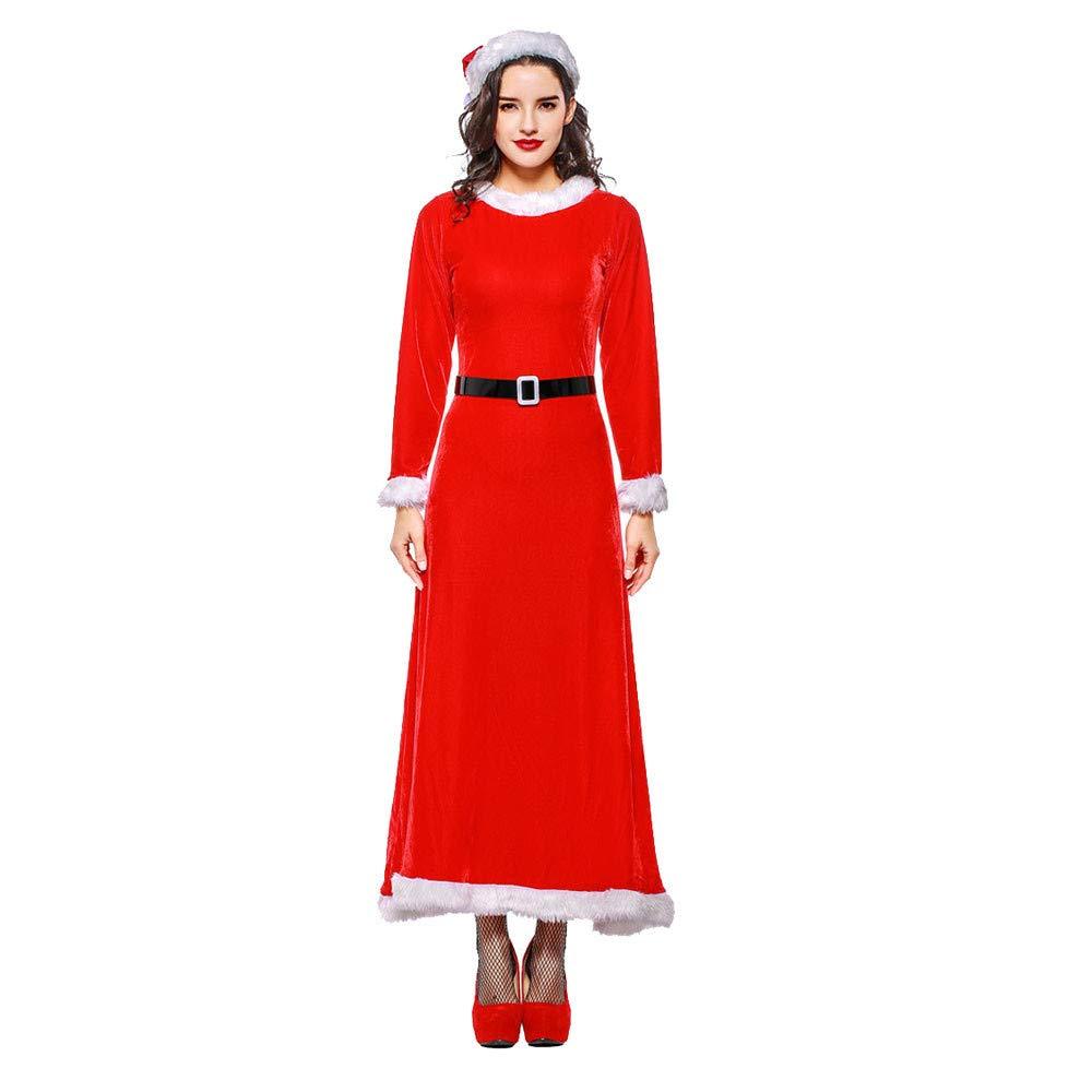 Amazon.com: Bokeley - Disfraz de Navidad para mujer, traje ...