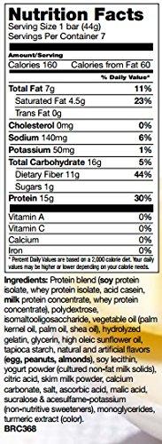 BalanceDiet Low Carb High Zesty Lemon Crisp Protein Bars, Family Size (21 bars)