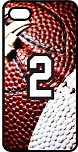 Football Sports Fan Player Number 2 Smoke Rubber Decorative iPhone 4/4s Case