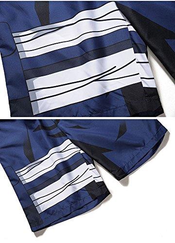 Rápido Para Cortos Pantalones Hombres Malla De 3d Secado Natación Baño Kakaxi Estampado Huateng Con Playa f4ZTXqwx