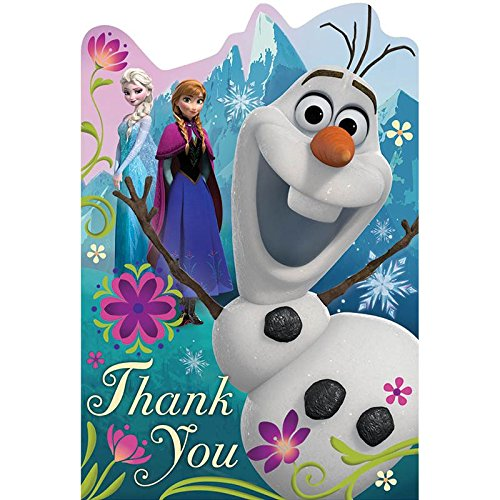 Disney Frozen Postcard Thank You Cards (8 Pack) - Party -