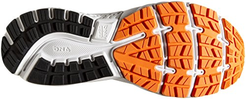 Brooks Men's Ghost 11 Running Shoes, Multicolore (Black/Silver/Orange 093), 11.5