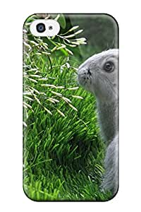 New Style Slim Fit Tpu Protector Shock Absorbent Bumper Cute Bunny Case For Iphone 4/4s