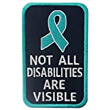 #5: Not All Disabilities are Visible Vests/Harnesses Service Dog Emblem Embroidered Fastener Hook & Loop Patch