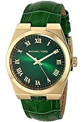 Michael Kors MK2356 Women's Channing Green Croc-Embossed Leather Strap Watch