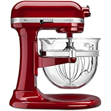 KitchenAid KF26M22CA 6-Qt. Professional 600 Design Series with Glass Bowl - Candy Apple Red