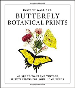 instant wall art butterfly botanical prints 45 ready to frame vintage illustrations for your home dcor