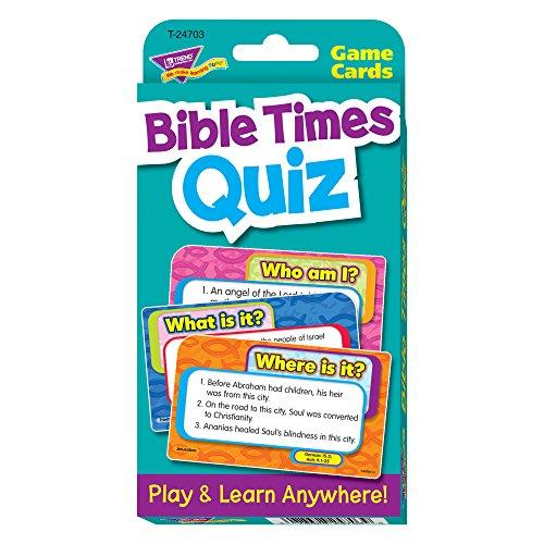 - TREND enterprises, Inc. T-24703BN Bible Times Quiz Challenge Cards, 6 Sets