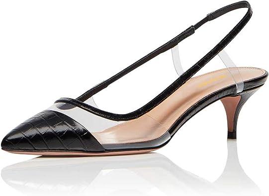 Womens Rhinestone Pointed Toe Flat Slingback Pumps Work Office Slip On Shoes Sz