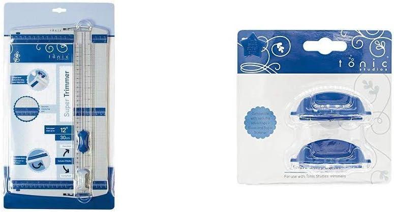 "- 153e-Color Azul Nuevo 12/"" 30cm Tonic Studios Super Trimmer TRIMMER de papel"