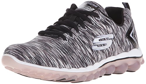 Skechers Sport Damen Skech Air Run High Fashion Sneaker Schwarz-Weiss