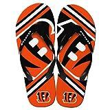 Cincinnati Bengals 2013 Official NFL Unisex Flip Flop Beach Shoes Sandals slippers size XS