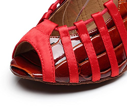Jazz EU41 Tacones Shoes Mujer Tango Modern UK7 Tea Sandalias heeled7 JSHOE Our42 Para Altos Red 5cm Samba Salsa xSaHw8X