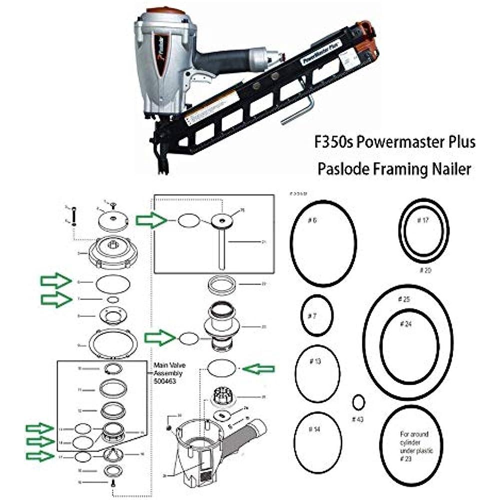 Paslode Framing Gun Rebuild Kit: O-Ring Rebuild Kit For F350s Powermaster Plus Paslode