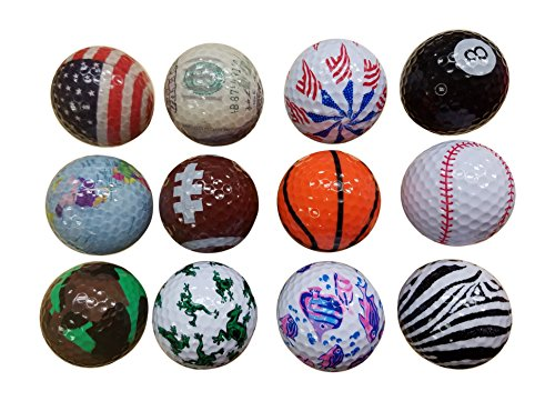 BZANY Father s Day Gift Fun Crazy Golf Balls 1 Dozen