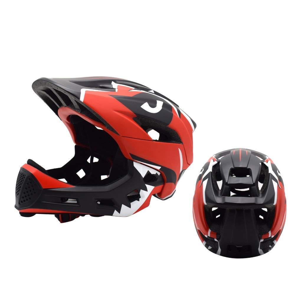子供用ヘルメット、サイクリング、スケート、スクーティング、スキー、自転車用通気性通気口12個付き子供用安全調整式自転車ヘルメット(48-56cm) (Color : Red)   B07NVMTK1Y