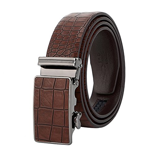 Men's Belt Ratchet Leather Dress Belt with Automatic Buckle 35mm Wide 27
