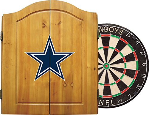 Dallas Cowboys Dart Set - Imperial Officially Licensed NFL Merchandise: Dart Cabinet Set with Steel Tip Bristle Dartboard and Darts, Dallas Cowboys
