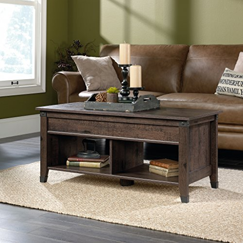 Sauder 420421 Carson Forge Lift-Top Coffee Table with Storage, L: 43.15