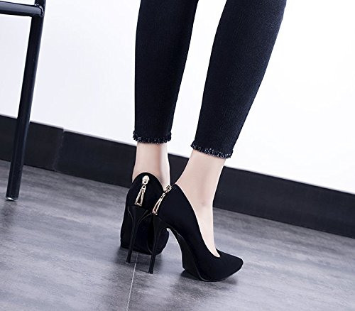 Platform Fine Black Shoes Shoes Shallow Waterproof Lady MDRW Heel Mouth Women'S Leisure 34 Elegant Single Sexy Spring High Work Night Shop 10Cm Heel Shoes RUUPqHw8