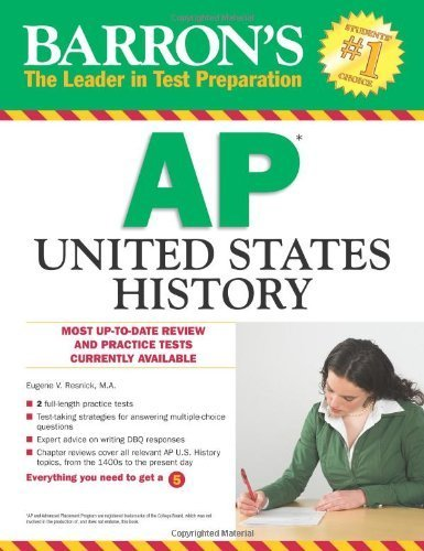 Barron's AP United States History by Resnick M.A., Eugene V. (February 1, 2012) Paperback 2nd Revised edition