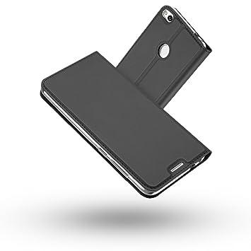 Radoo Funda Huawei P8 Lite 2017, Slim Case de Estilo Billetera Carcasa Libro de Cuero,PU Leather con TPU Silicona Case Interna Suave [Cierre ...