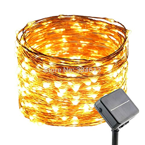 BATOP Solar Powered 30m/99ft 300leds Outdoor Copper Wire dimmable String Lights Flash Starry Lights Bouquet Christmas Decoration -