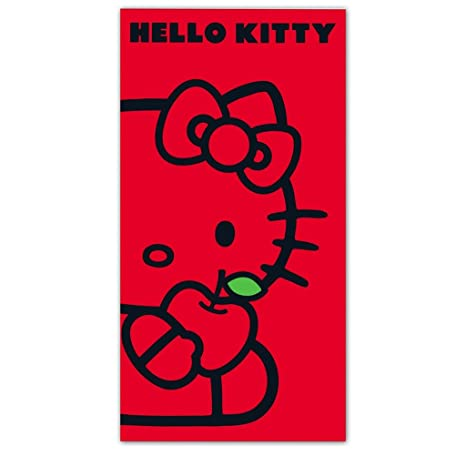 TOALLA PLAYA ROJA HELLO KITTY