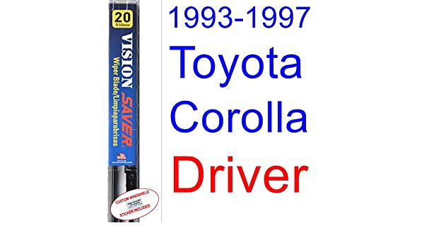 Amazon.com: 1993-1997 Toyota Corolla DX Wiper Blade (Driver) (Saver Automotive Products-Vision Saver) (1994,1995,1996): Automotive
