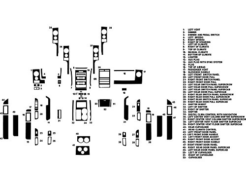 Rdash Dash Kit Decal Trim for Ford F-150 2009-2012 - Diamond Plate ()
