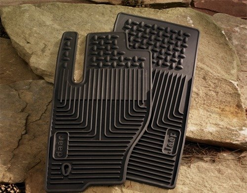 Mopar 82209070 OEM Jeep Commander Slush Mats - Front & Rear Set - Slate (Set Jeep Commander)