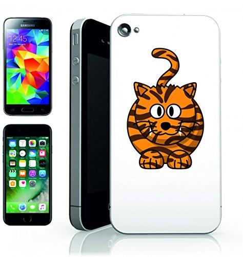 Smartphone Case della tigre del gatto grazioso animale di righe di felice Arancione/Nero Per Apple iPhone 4/4S, 5/5S, 5C, 6/6S, 7& Samsung Galaxy S4, S5, S6, S6Edge, S7, S7Edge Huawei HTC–Dive