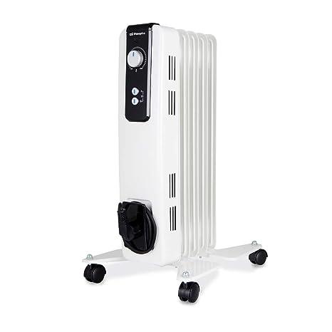 Orbegozo RH 1000 Radiador de aceite, 1000W de potencia, 5 elementos y diseño en