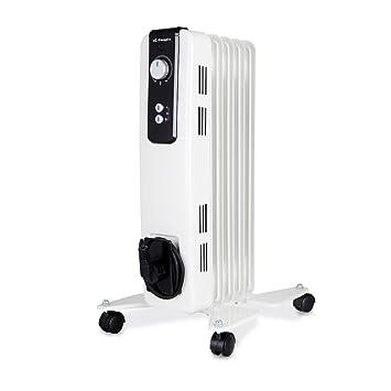 Orbegozo RH 1000 Radiador de Aceite, 1000W de Potencia, 5 Elementos y diseño en Color Blanco: Amazon.es: Hogar