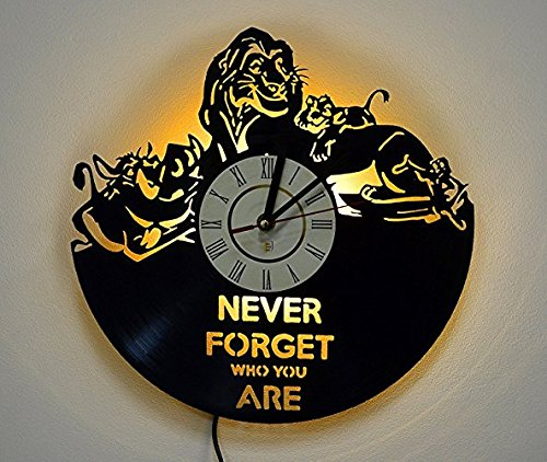 - LED Light, Night Light, Wall Lamp, Wall Lights, Lion King Wall Clock, Cool Nursery Wall Art Decor Gift Art Decor