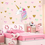 Unicorn Wall Decals,Unicorn Wall Sticker Decor with