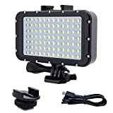 Aoile 84 LED High Power Dimmable Waterproof LED Video Light Waterproof 164ft(50m) Underwater Lights Dive Light for Gopro Canon Nikon Pentax Panasonic Sony Samsung SLR Cameras