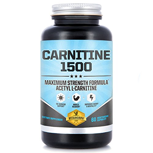 Acetyl L-Carnitine 1500mg per Serving | Highest Potency Acetyl L-Carnitine HCl Supplement for Mentality, Energy, Fat Metabolization & Weight Loss | 60 Vegetarian Capsules